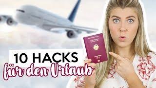 10 TRAVEL HACKS ☀️die DU kennen solltest fürs Reisen mit dem Flugzeug ✈️ | Coco