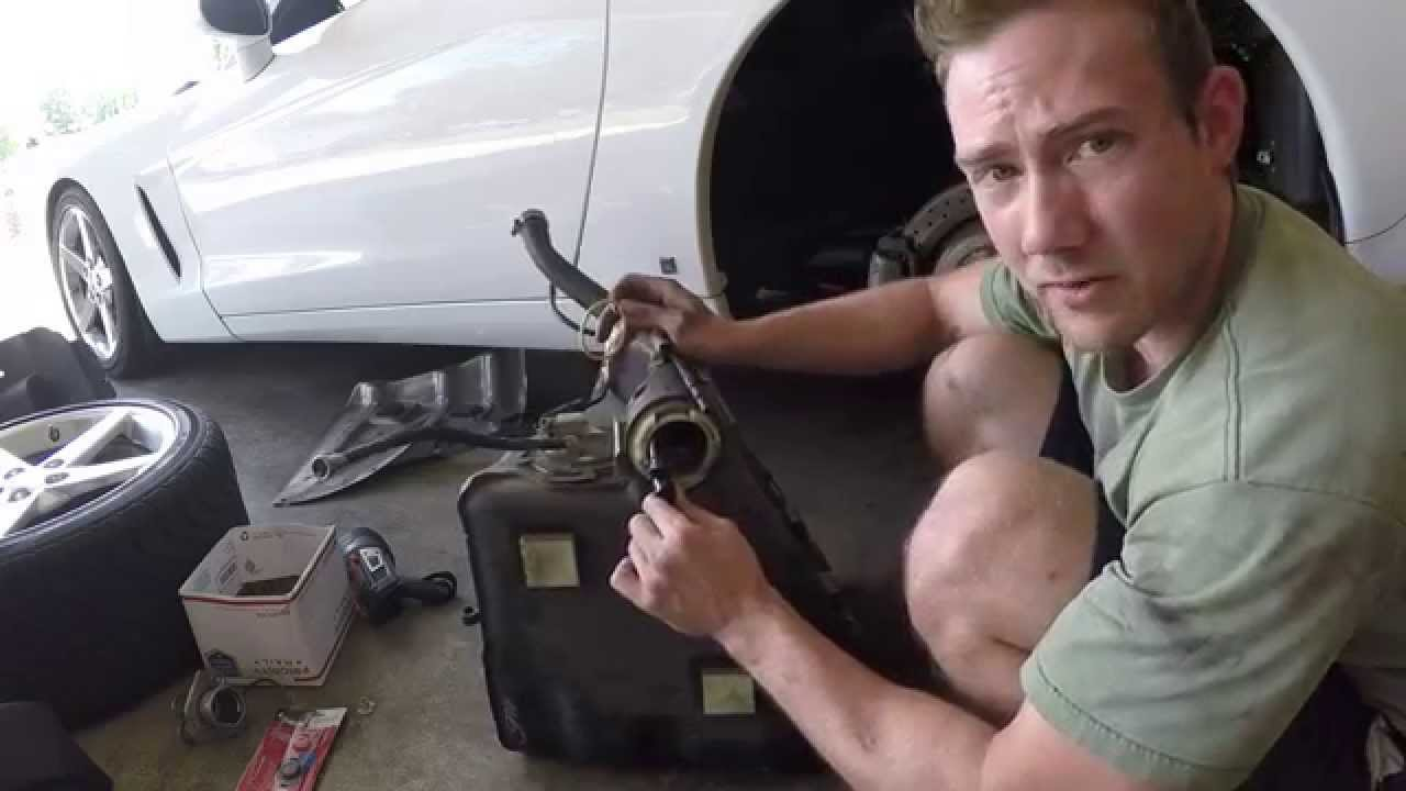 C6 Corvette Fuel Tank Removal Part 1 Youtube