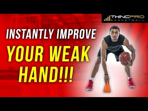 Basketball WEAK HAND Development Drills!!! (How to INSTANTLY Improve Your OFF HAND in Basketball)