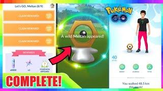 LIVE🔴 SHINY MAGNEMITE + COMPLETING MELTAN QUEST! Pokemon Let's Go Event 💚💯