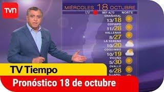 Pronóstico para este miércoles 18 de octubre   TV Tiempo