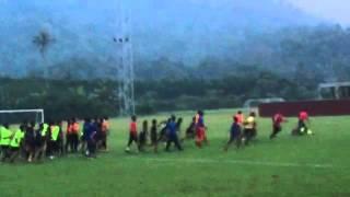 Pergaduhan FRENZ united vs Jasmin Bawah 17 selepas frenz united kalah 2-0