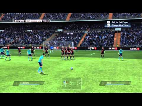 Fifa 11 Tutorial: The Curved Free Kick