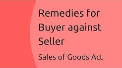 Remedies for Buyer against Seller   Sale of Goods Act 1930   CA CPT   CS & CMA Foundation