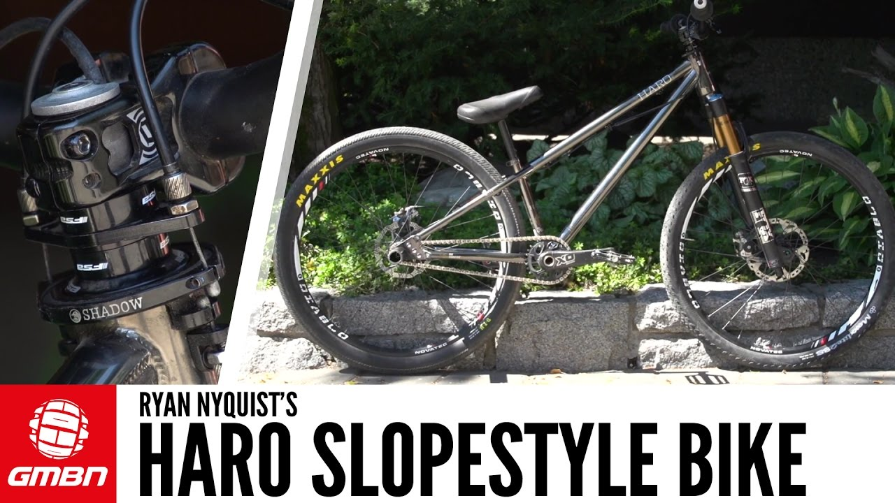 Ryan Nyquist's Haro Hardtail Slopestyle Bike | GMBN Pro Bike