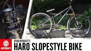 ryan nyquist s haro hardtail slopestyle bike   gmbn pro bike
