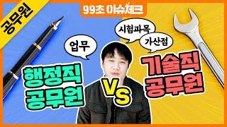 ★공무원 행정직 vs 기술직의 차이점★ 채용이 미달되는…