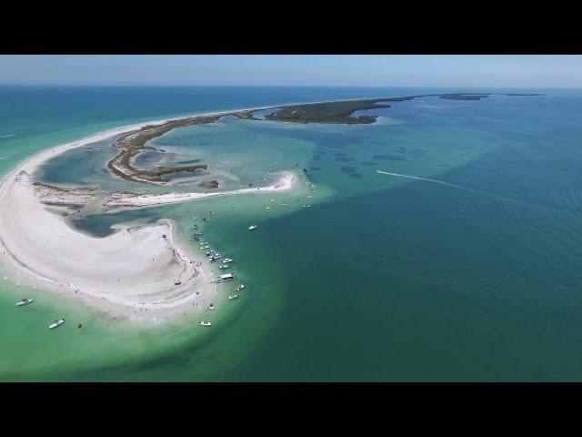 www.skyfxpics.com Anclote Key Island drone aerial tour by SKYFX Photography llc
