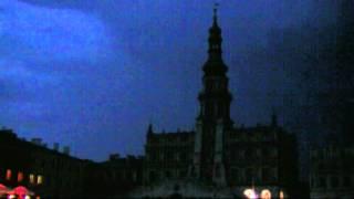 Burza z piorunami - Rynek Wielki Zamość (Thunderstorm)