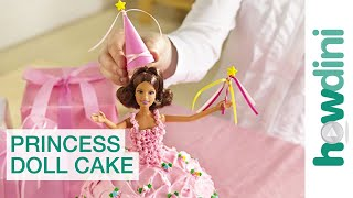 Birthday Cake Ideas: How to make a princess doll birthday cake thumbnail