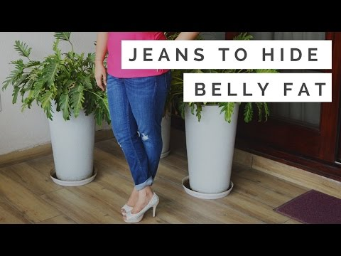 Best Jeans for women to hide belly fat | Distressed Jeans, High Waisted Jeans, Jeggings etc.