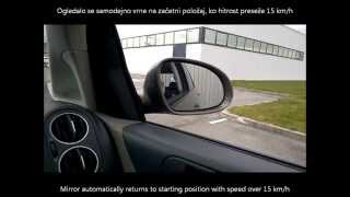 Vw Golf 6 Plus MY2012 - reverse gear mirror dip activation - spust sovoznikovega ogledala ob vzvratn