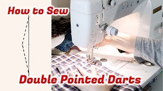 How to Sew Double Pointed Darts / Double Ended Darts // Sewing Tutorialㅣmadebyaya