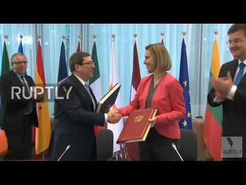 Belgium: Cuba and EU sign deal on political dialogue and cooperation