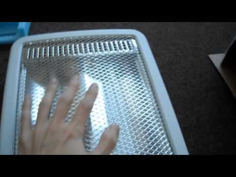 Unboxing Review NOMA Halogen Heater Quartz Winter Fanless 400w 800w Compact Slim Infrared