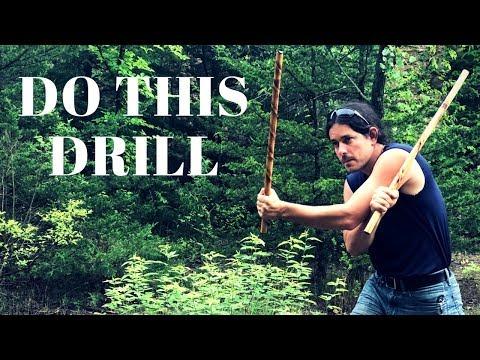 Double Stick Fighting Drill - Fma Kali Escrima