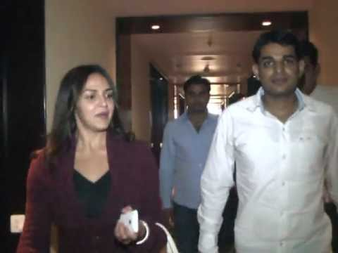 praveen kaler(RU Persident 2010) with esha deol in hotel marriot jaipur