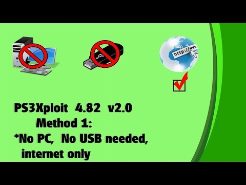 "PS3Xploit 4.82 v2.0 ""how to"" tutorial method 1: PS3 with internet, no usb, no pc needed"
