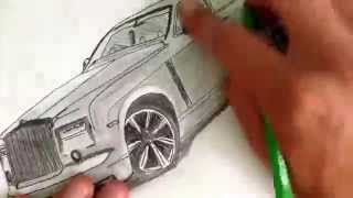 How to draw Rolls Royce easy drawing