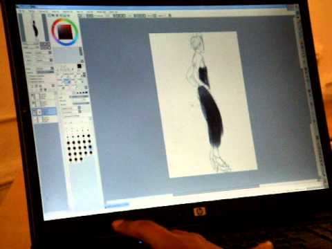 Bri Using The Tablet At Fashion Drawing Session Youtube