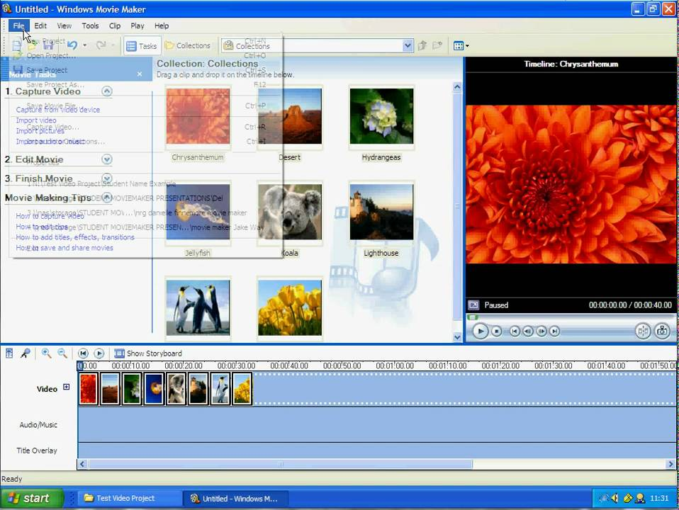 how to save a video file wmv using windows movie maker