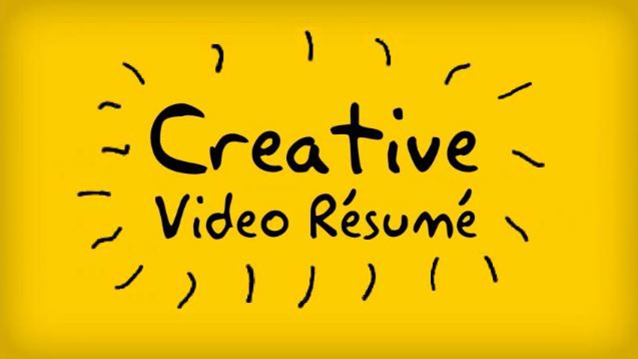 creative video resume kassem jamal youtube