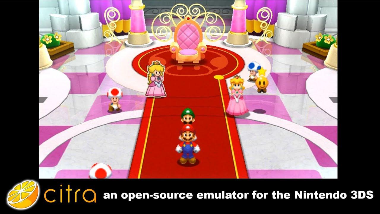 Citra 3DS Emulator - Mario And Luigi Paper Jam Ingame! scaled resolution +  audio