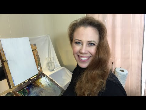 Oil painting a glass of water with Jessica Henry