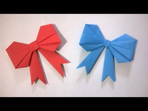 Origami Moño De Papel Como Hacer Un Moño De Papel Youtube
