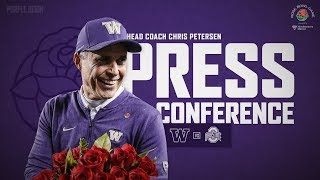 Football: 105th Rose Bowl Postgame Press Conference
