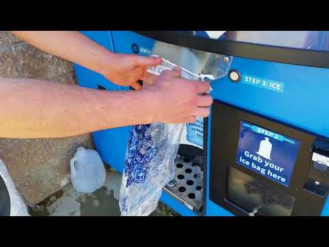 Water and Ice Vending Machine