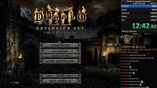 Diablo 2 Any% Sorc [old WR] Speedrun 1:10:56