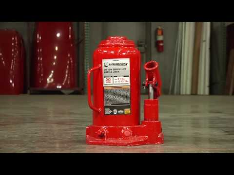 Strongway Hydraulic Quick Lift Bottle Jack - 20-Ton Capacity, 9 1/2in.17 13/16in. Lift Range
