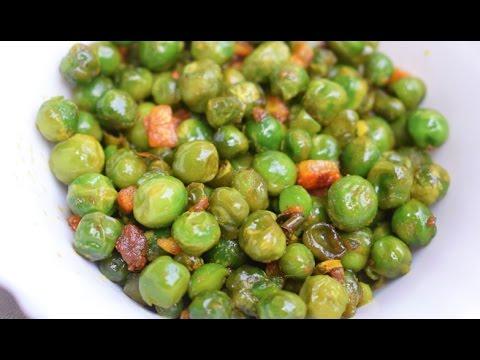 Hare Matar ki Ghugni recipe in Hindi | Green Hari matar ghughri | Spicy Green Peas (Appetizer)