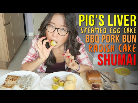 Dim Sum MUKBANG ● Pig Liver Roll, BBQ Pork Bun, Radish Cake, Steamed Egg Cake & more