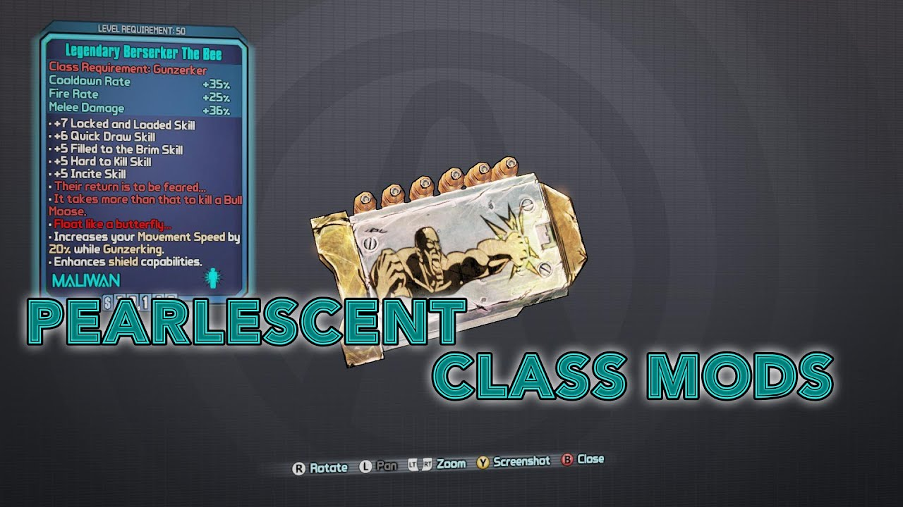Borderlands 2 - Pearlescent Class Mods! - YouTube Borderlands 2 Gibbed