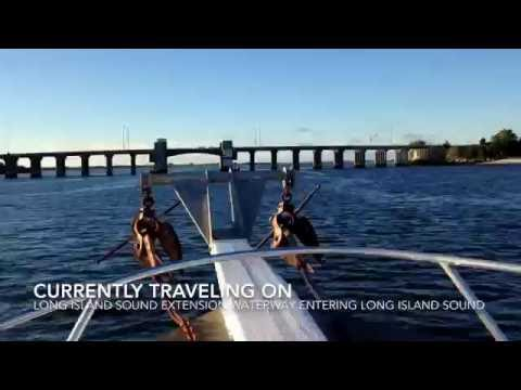 Traveling At Sea On The Long Island Sound- Suffolk County, Long Island, New York (HD)