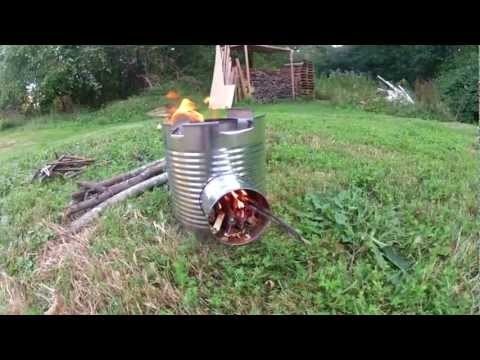 "how to make an emergency ""Rocket Stove"" for survival"