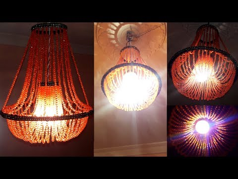 DIY Crystal Chandelier | How To Make Jhumar At Home | Beaded Jhumar | Wall Hanging Decoration