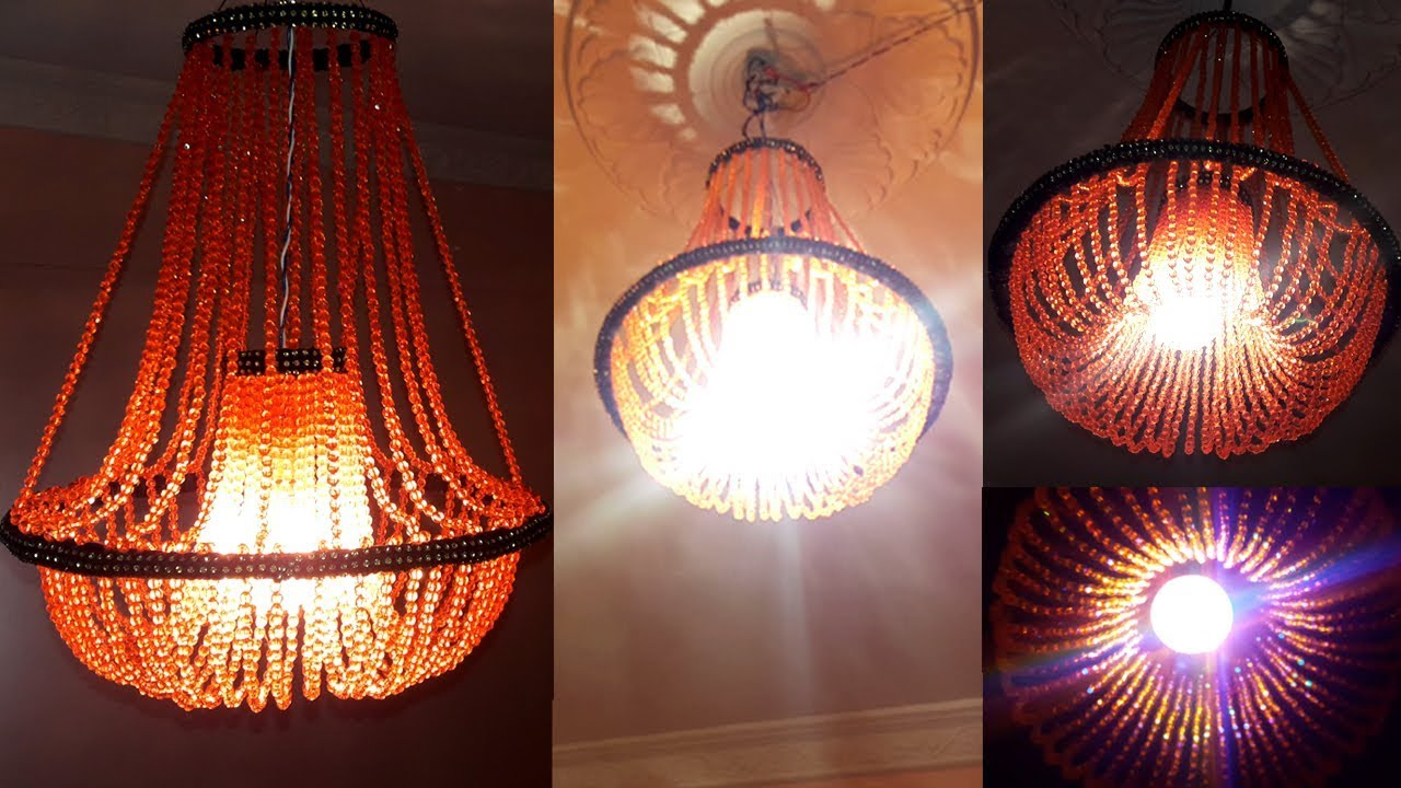 Diy crystal chandelier how to make jhumar at home beaded jhumar diy crystal chandelier how to make jhumar at home beaded jhumar wall hanging decoration arubaitofo Image collections