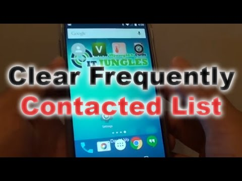 Google Nexus 5: How to Clear Frequently Contacted List