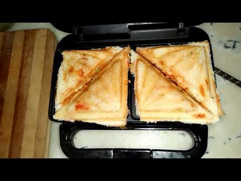 Bread Pizza Sandwich || Pizza Sandwich In Sandwich Maker By Recipe Box