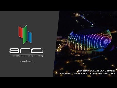 Gold Island Hotel Alanya 2017 - ARC / Dış Cephe Aydınlatma / Facade Led Lighting