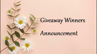 Giveaway 3 Winners Announcement  | Handmade Cards Ideas