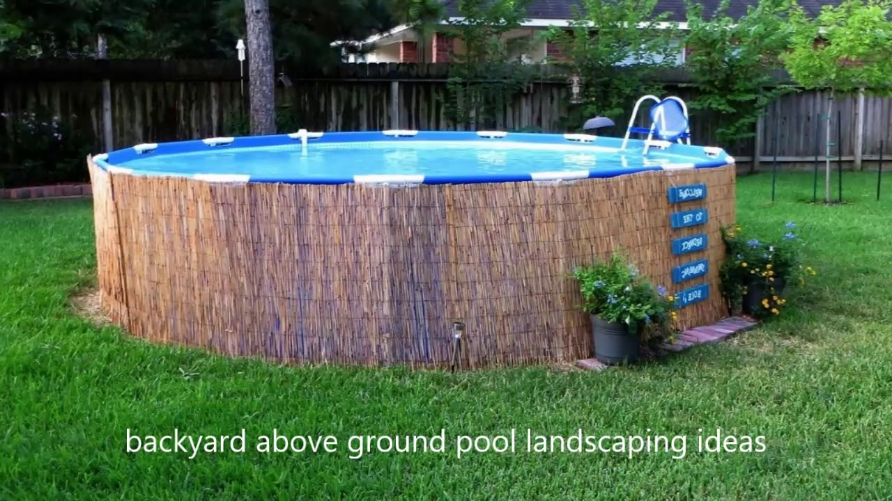 Modern Backyard Above Ground Pool Landscaping Ideas Small