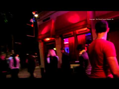 Amsterdam at Night - walk around the Red Light District De Wallen in Holland 7