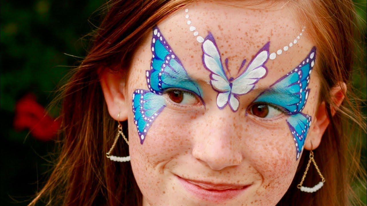 maquillage de papillon double tutoriel maquillage des enfants
