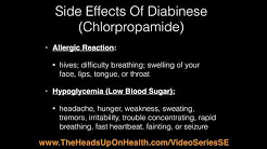 Side Effects Of Metformin gluchophage and Diabinese Chlorpropamide