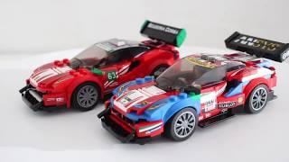 Ferrari 488 GT3 Scuderia Corsa. LEGO Speed Champions 75886. Speed build in Ultimate Garage.