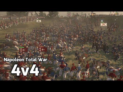 Napoleon Total War Online Battle #13 (4v4) - Complete Massacre